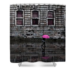 The Pink Umbrella Shower Curtain