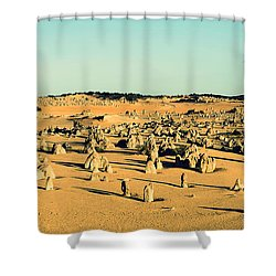 The Pinnacles Australia Shower Curtain by Yew Kwang