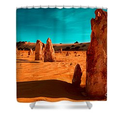 The Pinnacles Shower Curtain