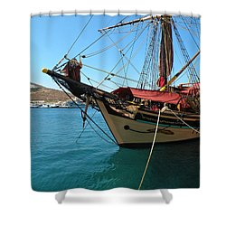 Shower Curtain featuring the photograph The Pirate Ship  by Micki Findlay
