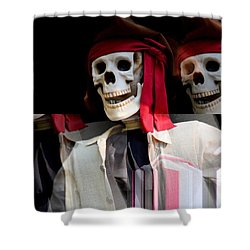 The Pirate's Ghost Shower Curtain by Maria Urso