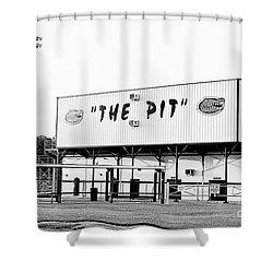 The Pit Shower Curtain by Scott Pellegrin