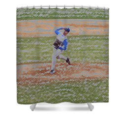 The Pitcher Digital Art Shower Curtain by Thomas Woolworth