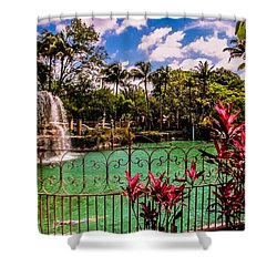 The Place To Relax Shower Curtain by Zina Stromberg