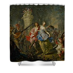 The Pleasures Of The Seasons     Spring Shower Curtain by Johann Georg Platzer