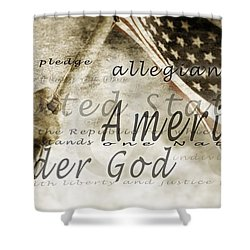The Pledge Of Allegiance And An Shower Curtain