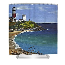 The Point Shower Curtain by Donna Blossom