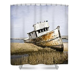 The Point Reyes Shower Curtain by Priya Ghose