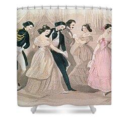 The Polka Fashions Shower Curtain by English School