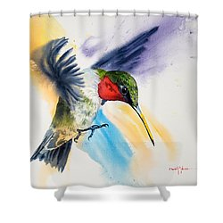 Da170 The Pollinator Daniel Adams Shower Curtain