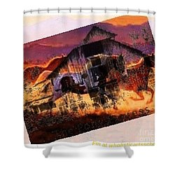 The Pony Express Shower Curtain by PainterArtist FIN