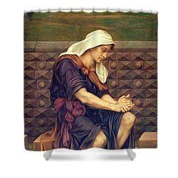 The Poor Man Who Saved The City Shower Curtain by Evelyn De Morgan
