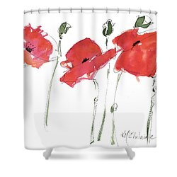 The Poppy Ladies Shower Curtain by Kathleen McElwaine
