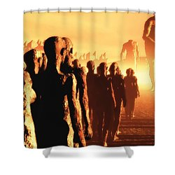The Post Apocalyptic Gods Shower Curtain