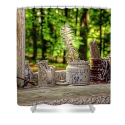The Potter's Window Shower Curtain by Donna Doherty