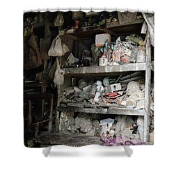 The Potter's Workshop Shower Curtain by Shaun Higson