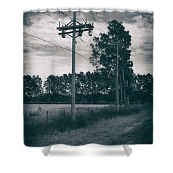 The Power Lines  Shower Curtain by Howard Salmon