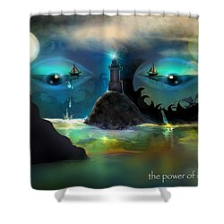 The Power Of Imagination Shower Curtain