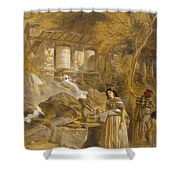 The Praying Cylinders Of Thibet Shower Curtain by William 'Crimea' Simpson