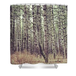Shower Curtain featuring the photograph The Preaching Of The Pines by Kerri Farley