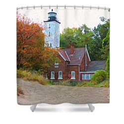 The Presque Isle Lighthouse Shower Curtain