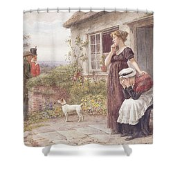 The Press Gang Shower Curtain by George Goodwin Kilburne