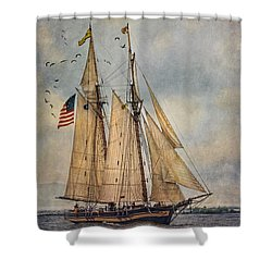 The Pride Of Baltimore II Shower Curtain by Dale Kincaid