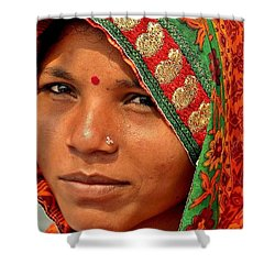 The Pride Of Indian Womenhood Shower Curtain