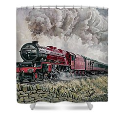 The Princess Elizabeth Storms North In All Weathers Shower Curtain by David Nolan