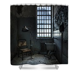 Shower Curtain featuring the photograph The Private Room - Abandoned Asylum by Gary Heller