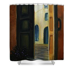 The Promise Shower Curtain by David Kacey