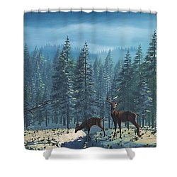 The Protector Shower Curtain by Ken Morris