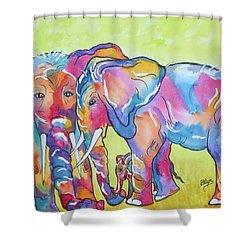 The Protectors Shower Curtain by Ellen Levinson