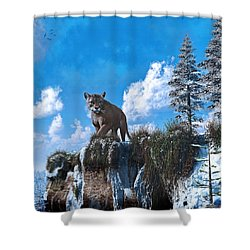 The Prowler Shower Curtain by Ken Morris