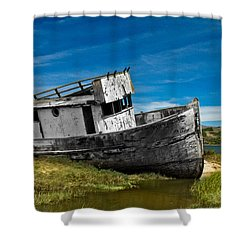 The Pt. Reyes Muted Shower Curtain by Bill Gallagher