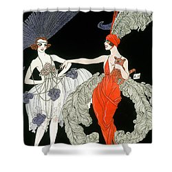 The Purchase  Shower Curtain by Georges Barbier