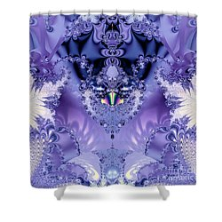 The Purple Heart Shower Curtain by Maria Urso