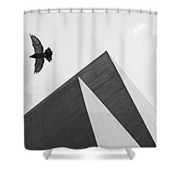 The Pyramids Of Love And Tranquility Shower Curtain