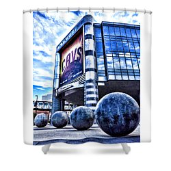 Shower Curtain featuring the photograph The Q - Home Of The 2016 Nba Champion Cleveland Cavaliers - 1 by Mark Madere
