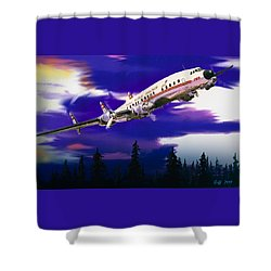 The Queen Of The Fleet Leaving Seattle Shower Curtain