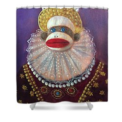 Shower Curtain featuring the painting The Proud Queen by Randol Burns