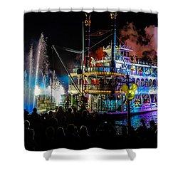 The Mark Twain Disneyland Steamboat  Shower Curtain