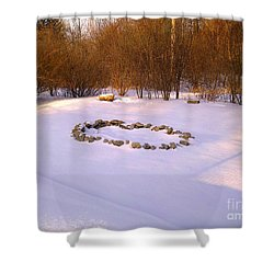 The Quiet Fire Pit Shower Curtain