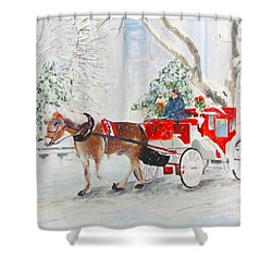 The Quiet Ride Shower Curtain by Beth Saffer
