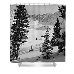 The Quiet Season Shower Curtain by Eric Glaser