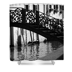 The Quiet - Venice Shower Curtain by Lisa Parrish