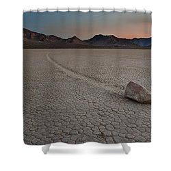 The Racetrack At Death Valley National Park Shower Curtain by Eduard Moldoveanu