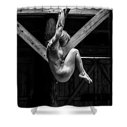 Shower Curtain featuring the photograph The Rafter Ornament by Mez