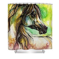 The Rainbow Colored Arabian Horse Shower Curtain