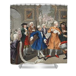 The Rakes Levee, Plate II, From A Rakes Shower Curtain by William Hogarth
